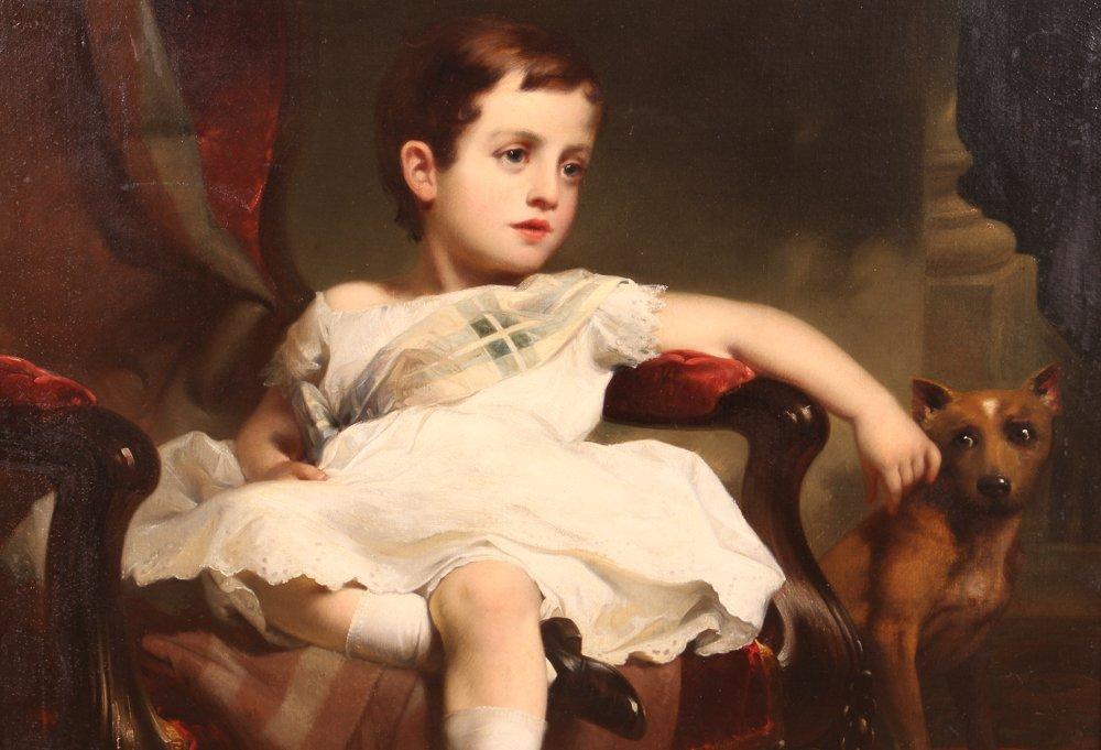 """Samuel Bell Waugh portrait 8 Year Old """"Stoner Herstein"""" - 3"""