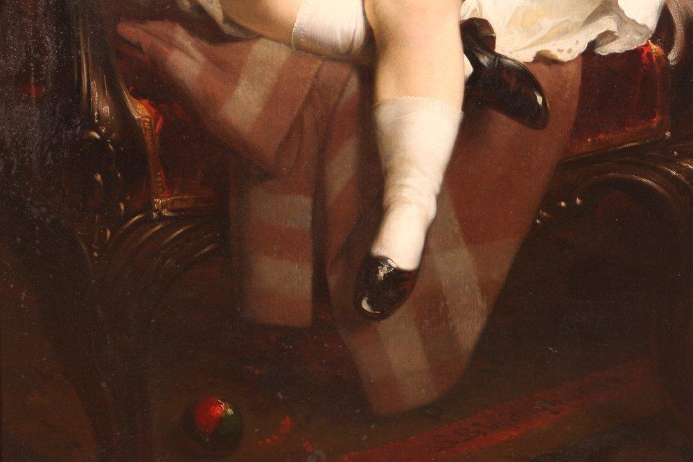 """Samuel Bell Waugh portrait 8 Year Old """"Stoner Herstein"""" - 4"""