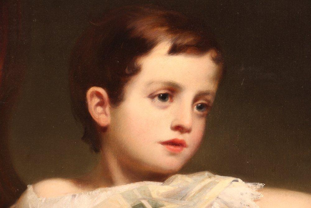 """Samuel Bell Waugh portrait 8 Year Old """"Stoner Herstein"""" - 7"""
