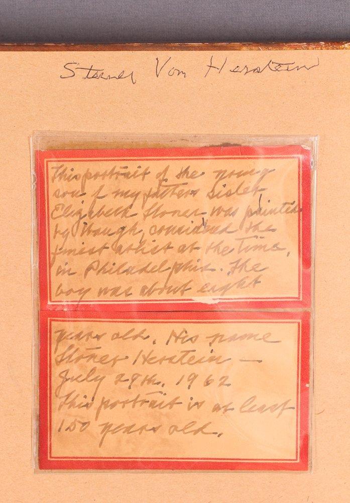 """Samuel Bell Waugh portrait 8 Year Old """"Stoner Herstein"""" - 8"""