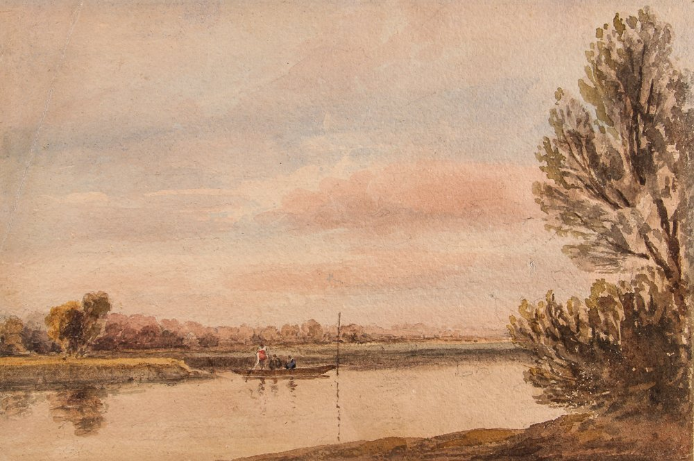 Collection of 3 19th Century Watercolors with 1 Pastel