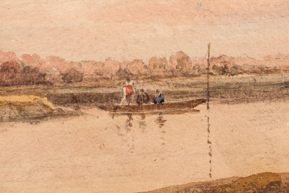 Collection of 3 19th Century Watercolors with 1 Pastel - 2