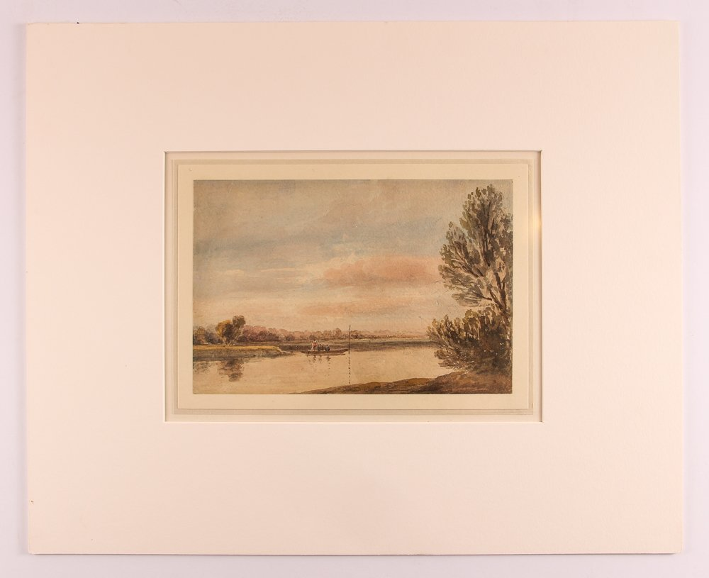 Collection of 3 19th Century Watercolors with 1 Pastel - 4