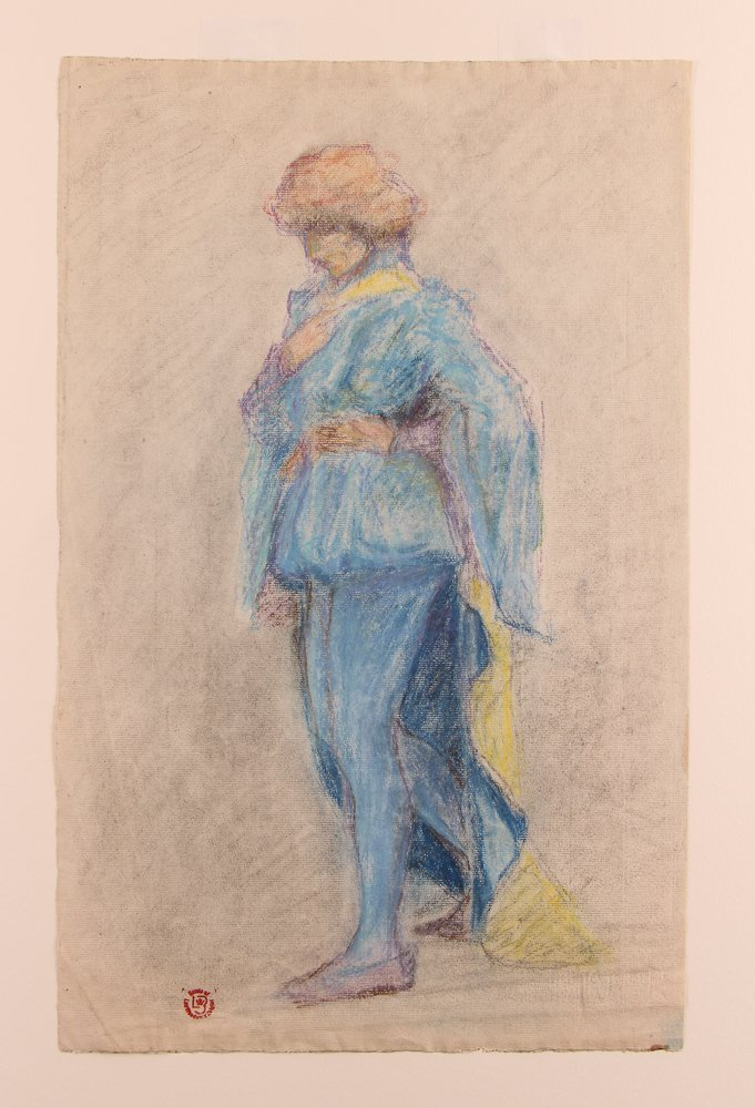 Collection of 3 19th Century Watercolors with 1 Pastel - 5