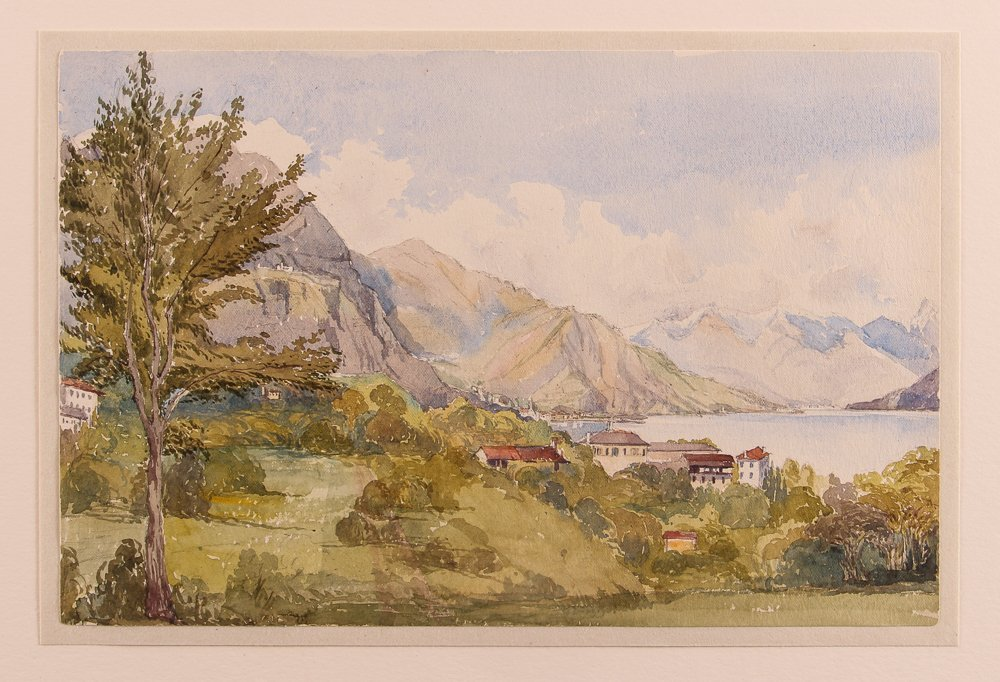 Collection of 3 19th Century Watercolors with 1 Pastel - 9