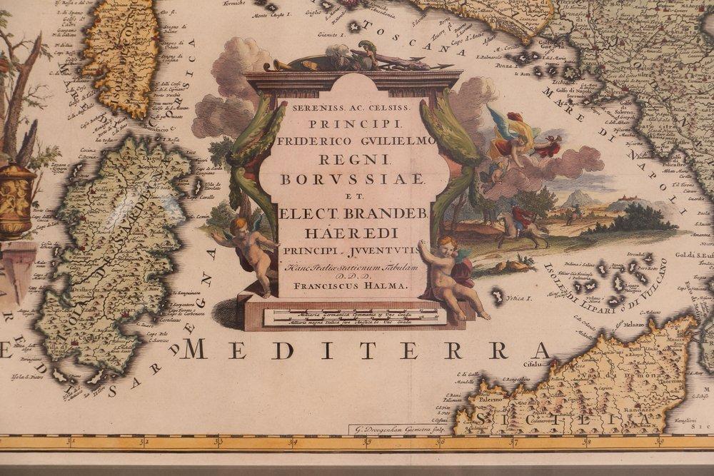 Map of Italy (Italia Antiqua of Oud Italje), 1704  Hand - 2
