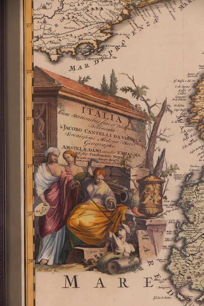 Map of Italy (Italia Antiqua of Oud Italje), 1704  Hand - 3