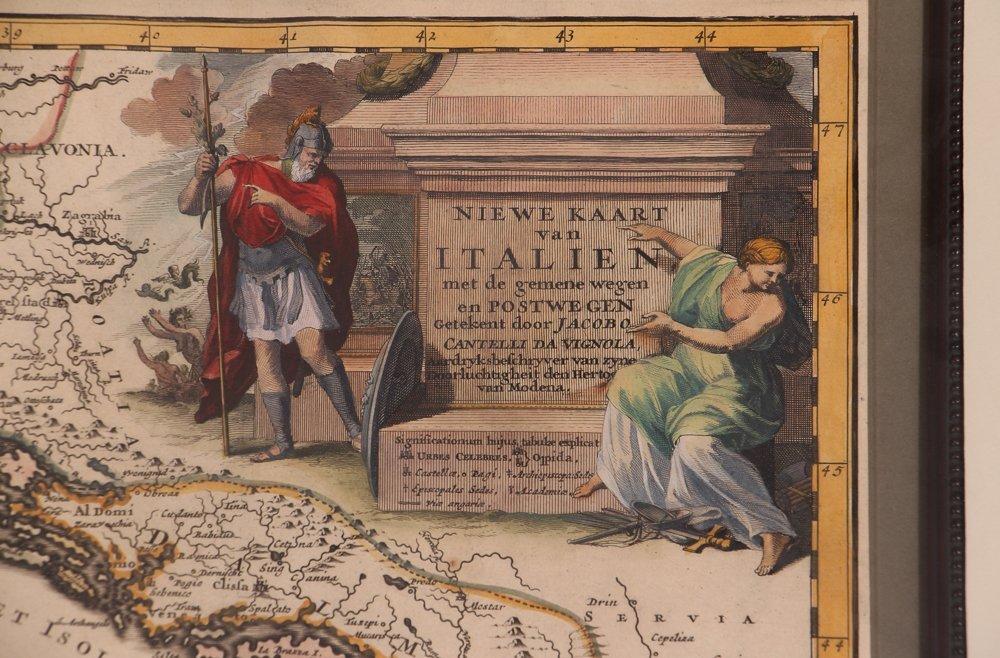 Map of Italy (Italia Antiqua of Oud Italje), 1704  Hand - 4