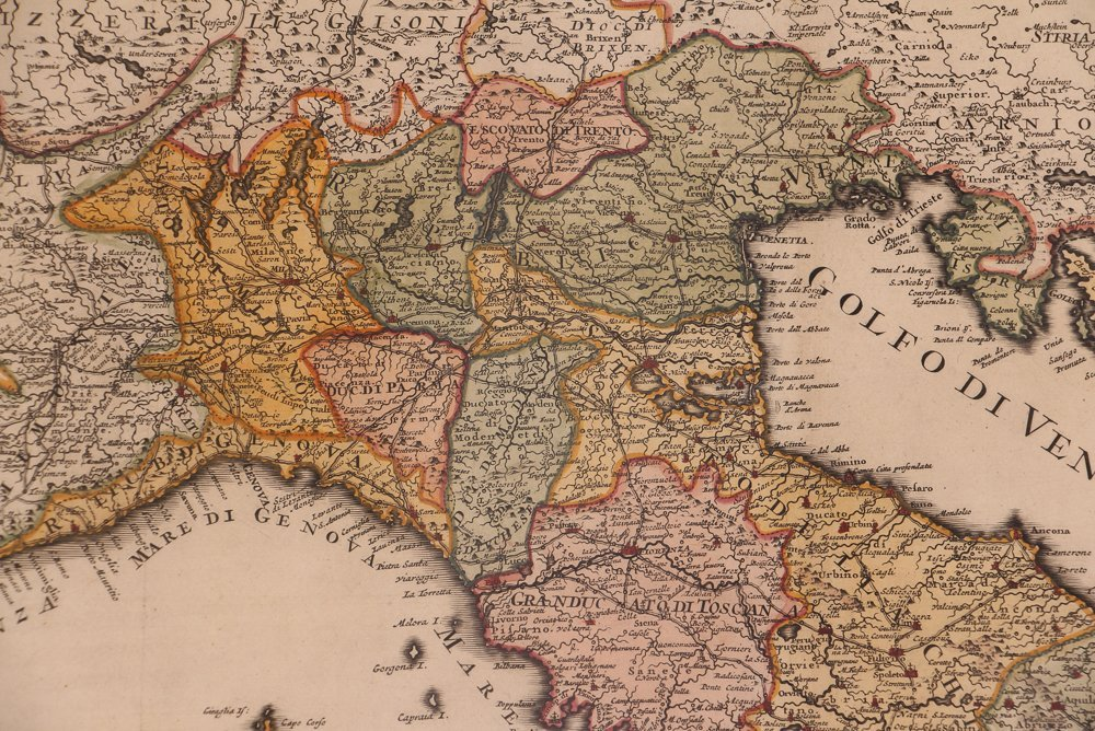 Map of Italy (Italia Antiqua of Oud Italje), 1704  Hand - 5