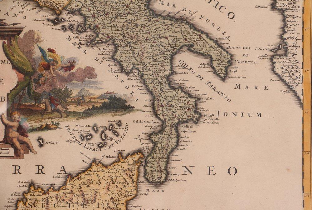 Map of Italy (Italia Antiqua of Oud Italje), 1704  Hand - 6