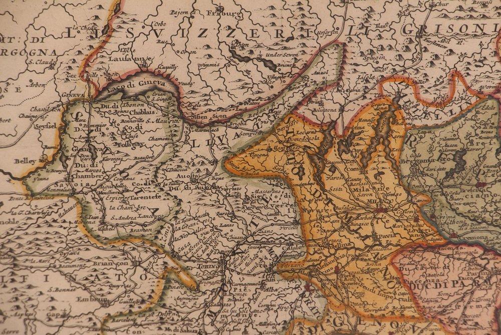 Map of Italy (Italia Antiqua of Oud Italje), 1704  Hand - 7