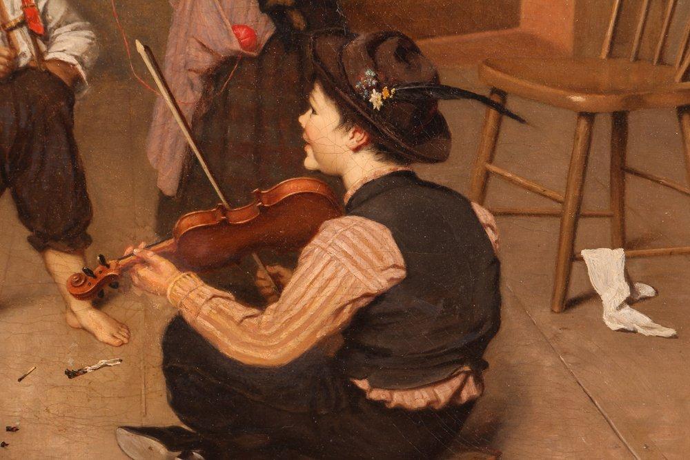 "ROSA HOHENBERG genre ptg. ""An Impromptu  Recital - 7"