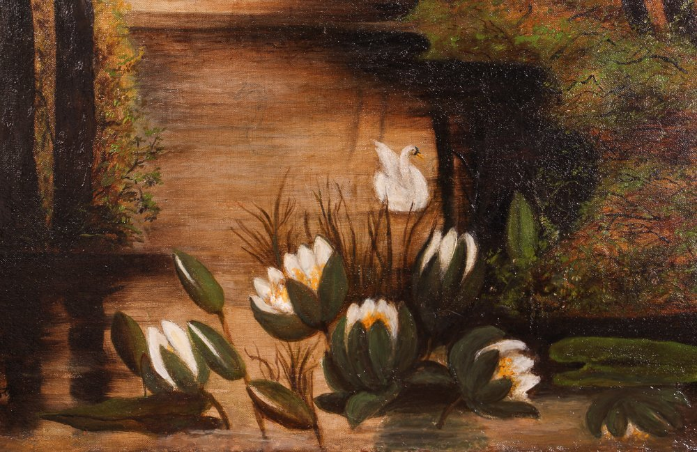 "A. Krotzer ""Landscape with Swan and Lily Pads"" - 4"