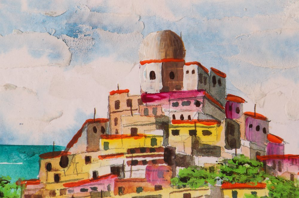 2 Views of Positano by O'Rocca - 3