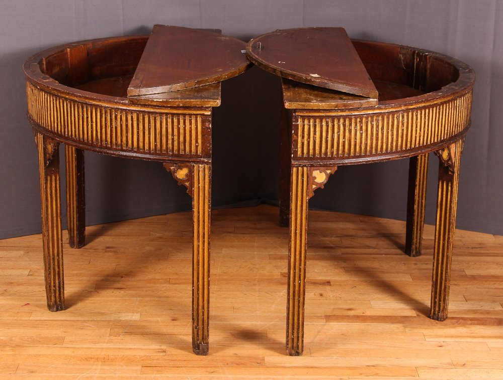 PAIR OF NORTH EUROPEAN PARCEL-GILT CONSOLE TABLES - 2