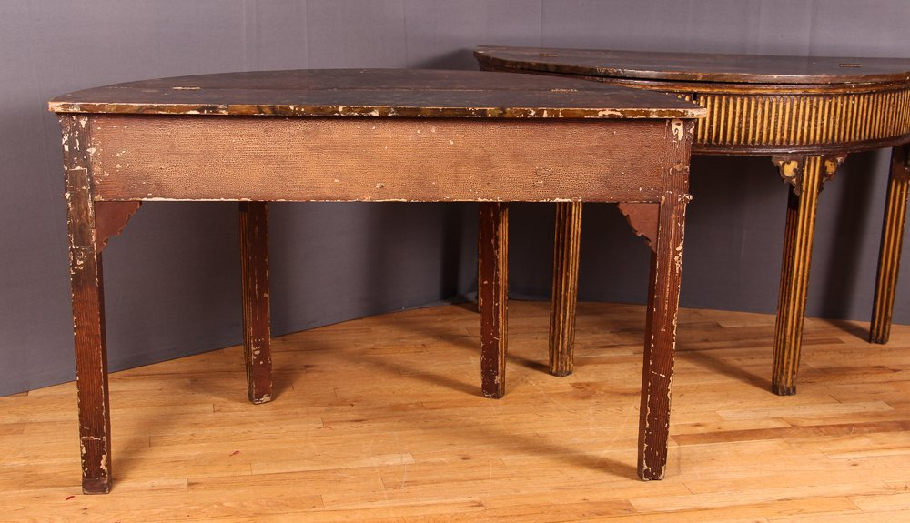 PAIR OF NORTH EUROPEAN PARCEL-GILT CONSOLE TABLES - 7