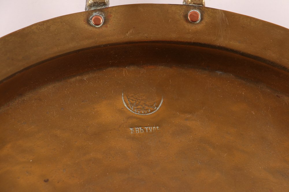Ten Russian Brass Trays with Handles - 8