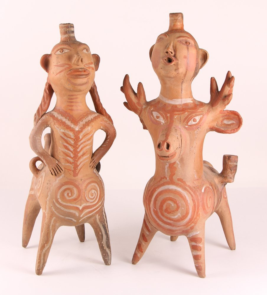 Aztec Style Terra Cotta Spirit Animals