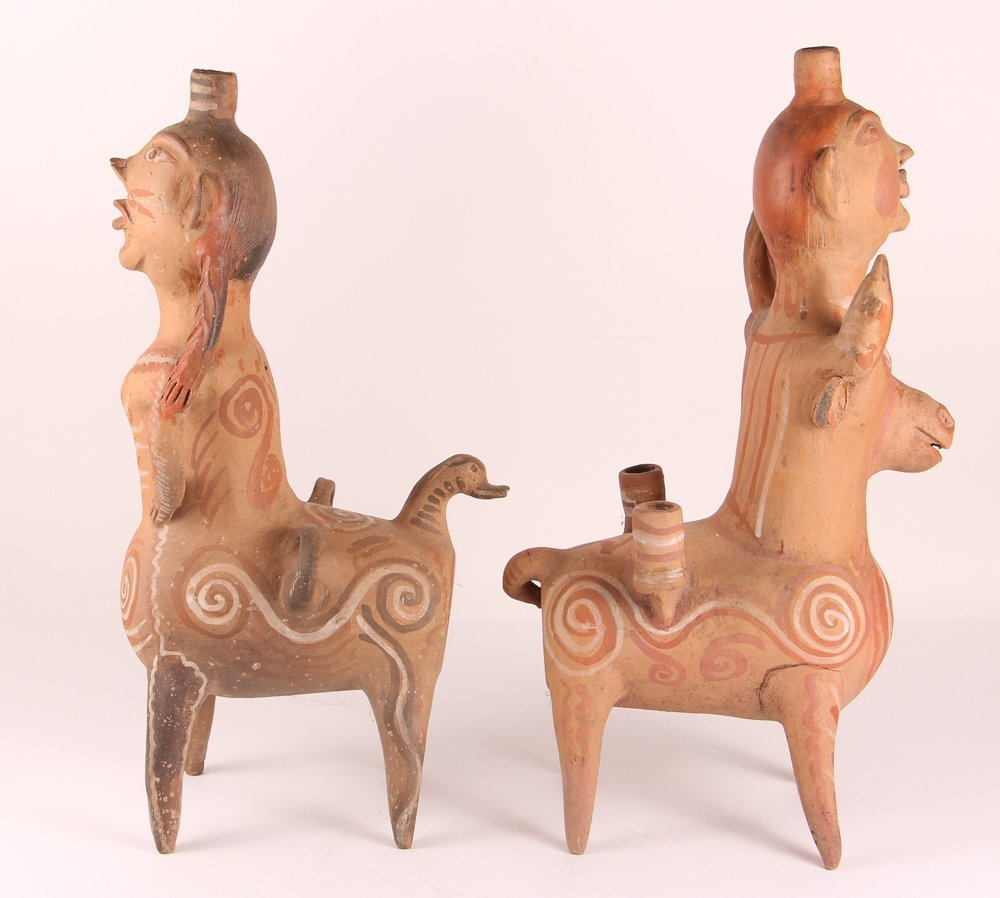 Aztec Style Terra Cotta Spirit Animals - 3