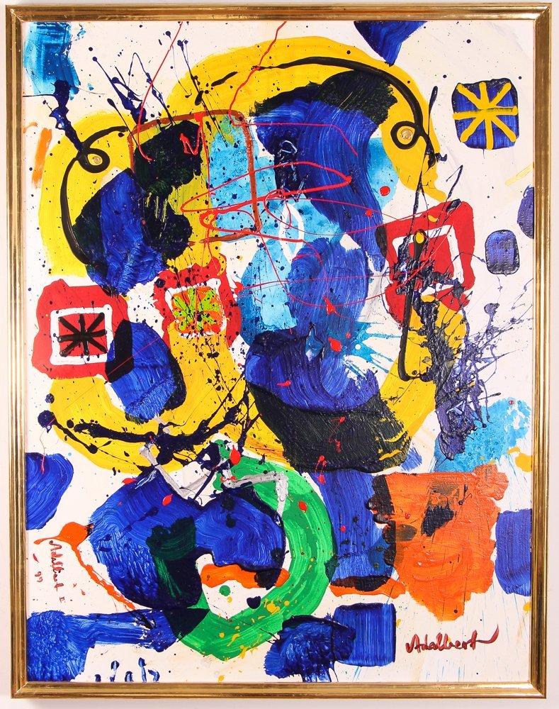 """Per Adalbert """"Untitled"""" Ab Ex painting"""
