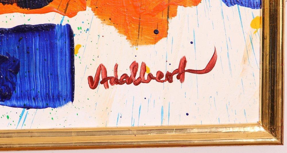 """Per Adalbert """"Untitled"""" Ab Ex painting - 2"""