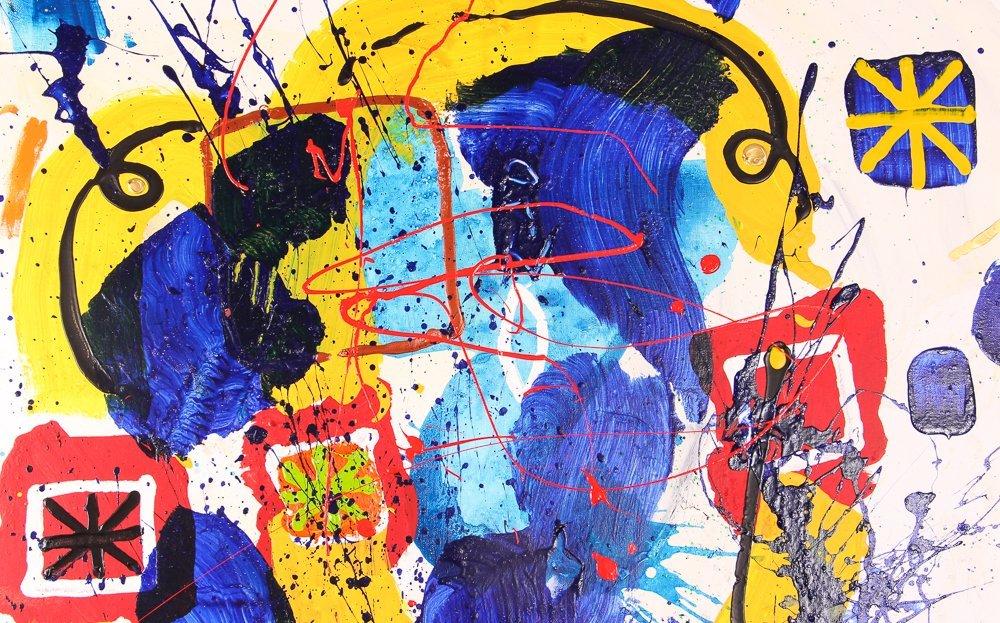 """Per Adalbert """"Untitled"""" Ab Ex painting - 4"""