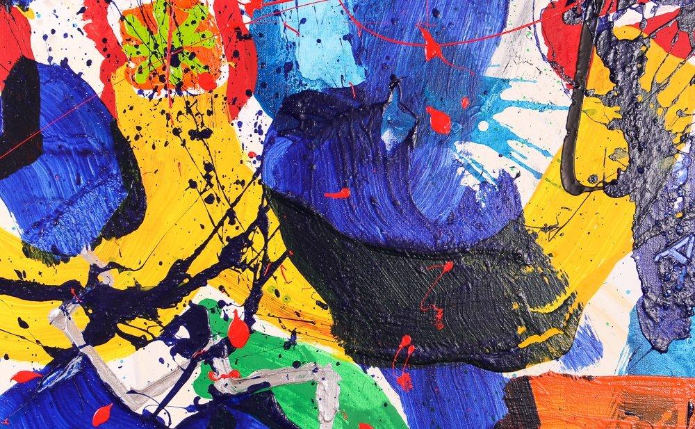 """Per Adalbert """"Untitled"""" Ab Ex painting - 5"""