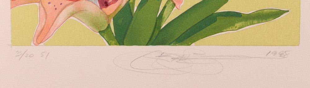 "2 Gary Bukovnik orig lithos,  ""Iris"" and ""Day Lilies"" - 3"