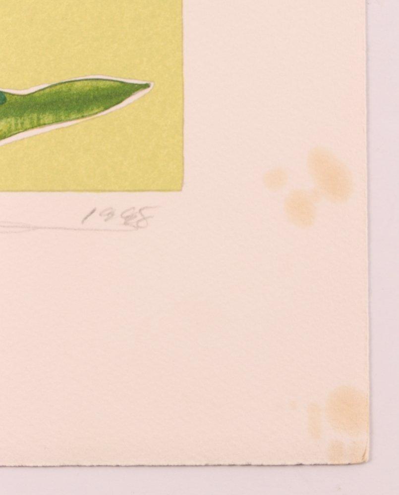 "2 Gary Bukovnik orig lithos,  ""Iris"" and ""Day Lilies"" - 4"