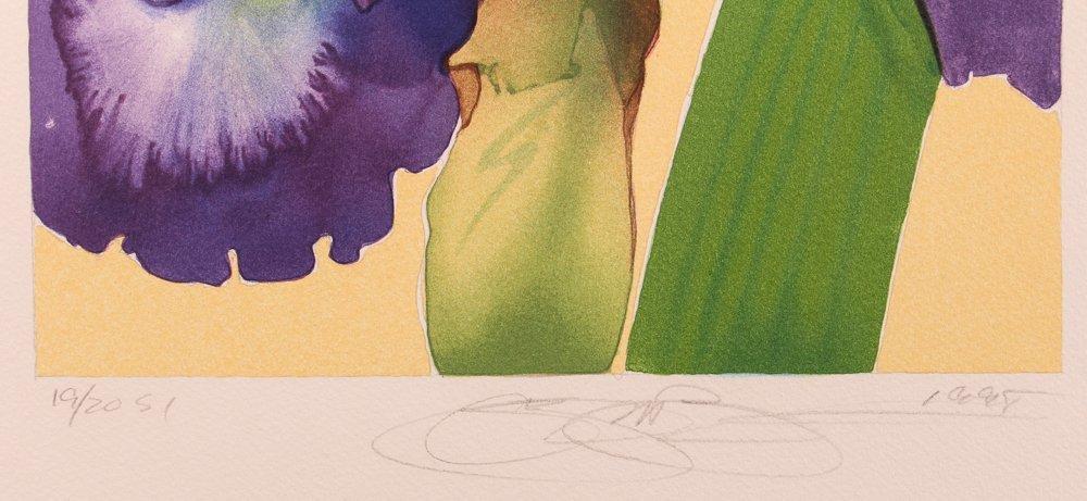 "2 Gary Bukovnik orig lithos,  ""Iris"" and ""Day Lilies"" - 6"