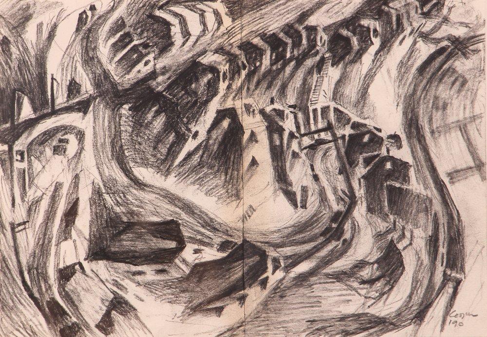 """2 Doug Cooper 1990 """"Pittsburgh Drawings"""""""