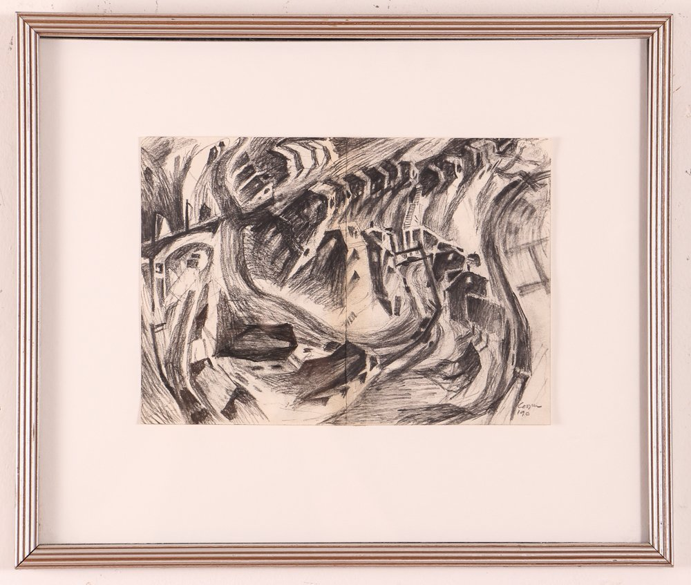 """2 Doug Cooper 1990 """"Pittsburgh Drawings"""" - 2"""