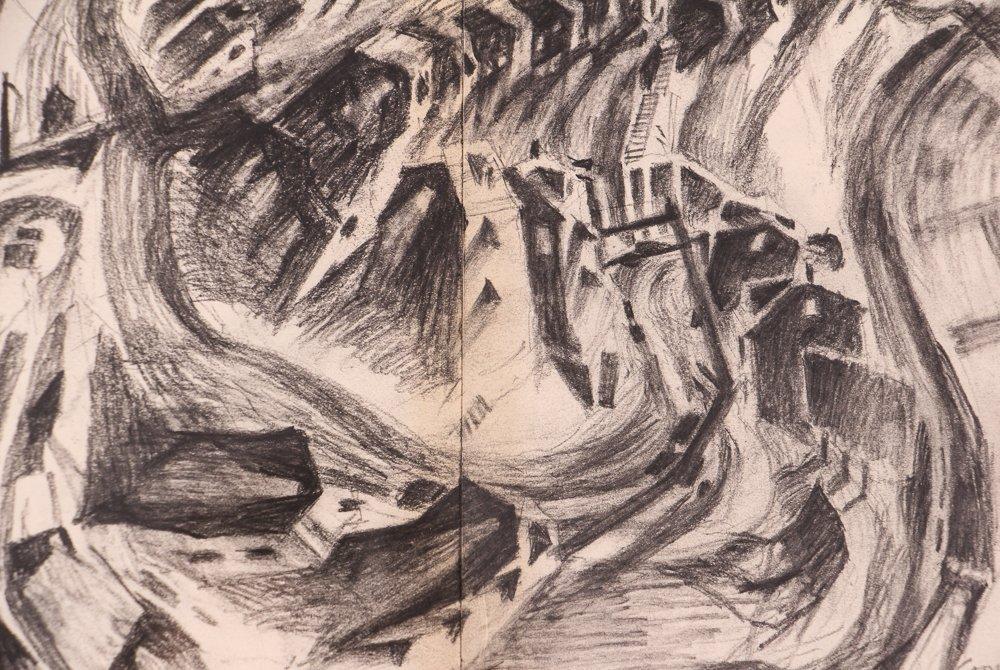 """2 Doug Cooper 1990 """"Pittsburgh Drawings"""" - 4"""