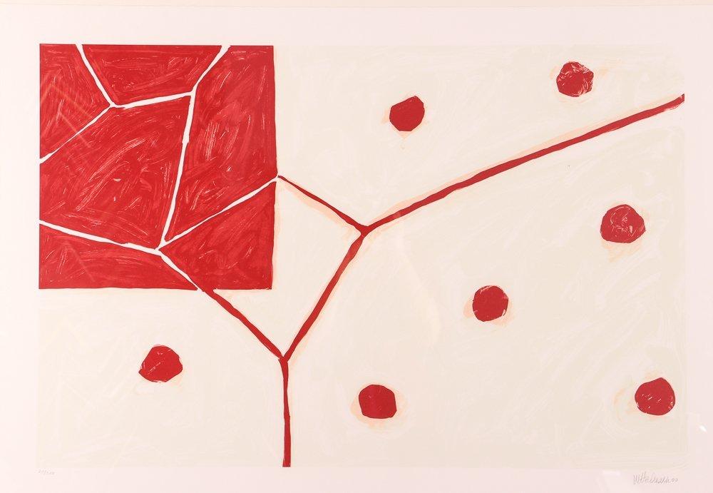 """Mary Heilmann orig litho 2000, """"EARTH AND AIR"""""""