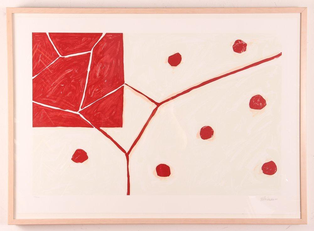 """Mary Heilmann orig litho 2000, """"EARTH AND AIR"""" - 2"""