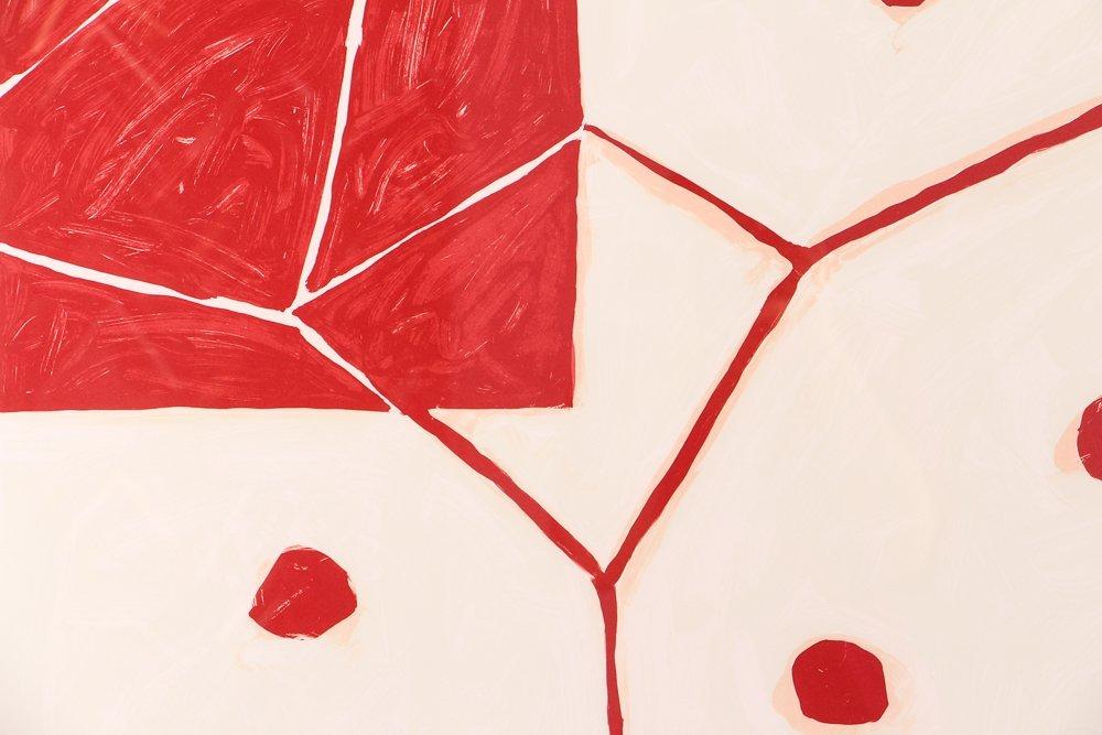 """Mary Heilmann orig litho 2000, """"EARTH AND AIR"""" - 4"""