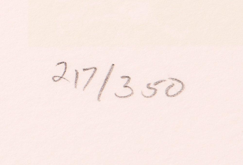 """Mary Heilmann orig litho 2000, """"EARTH AND AIR"""" - 7"""