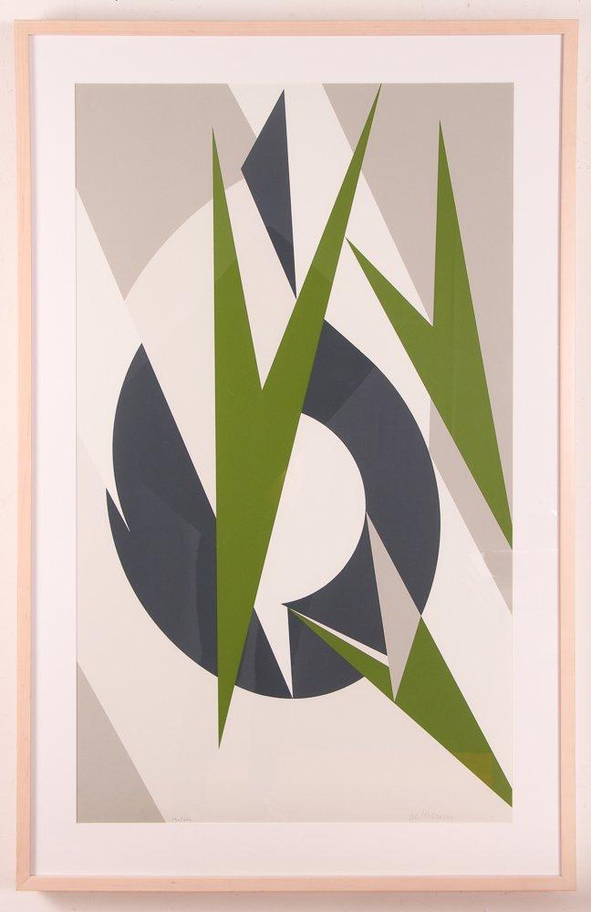 """Lee Krasner 1974 orig serigraph """"Embrace"""" - 2"""