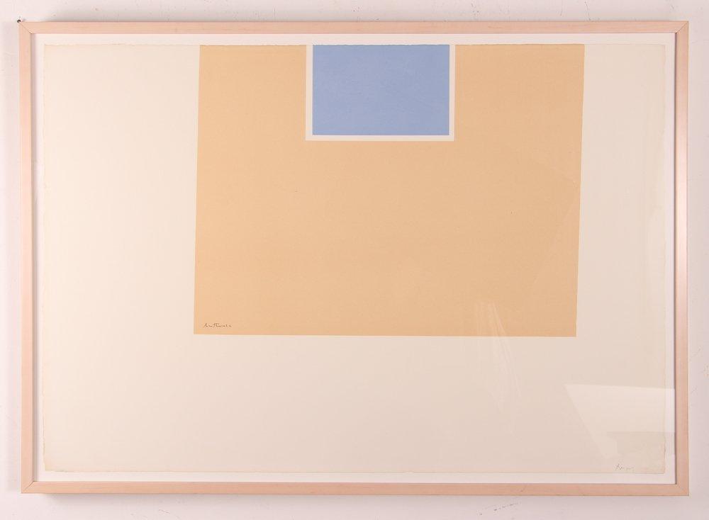 "Robert Motherwell ""London Series II"" (Blue/Tan) 1971"