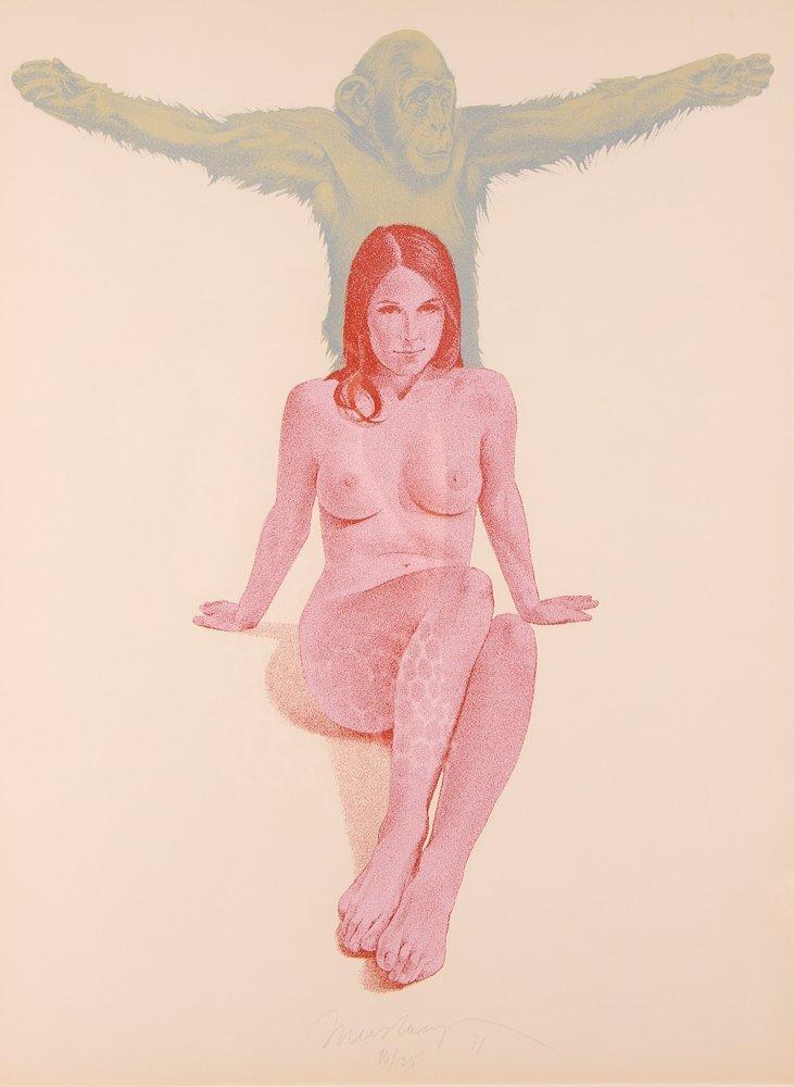"Mel Ramos 1971 orig serigraph  ""Chimpanzee"""