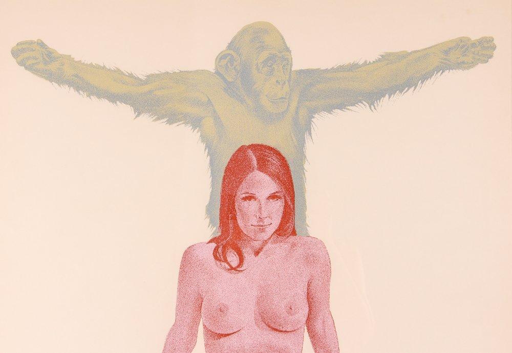 "Mel Ramos 1971 orig serigraph  ""Chimpanzee"" - 4"