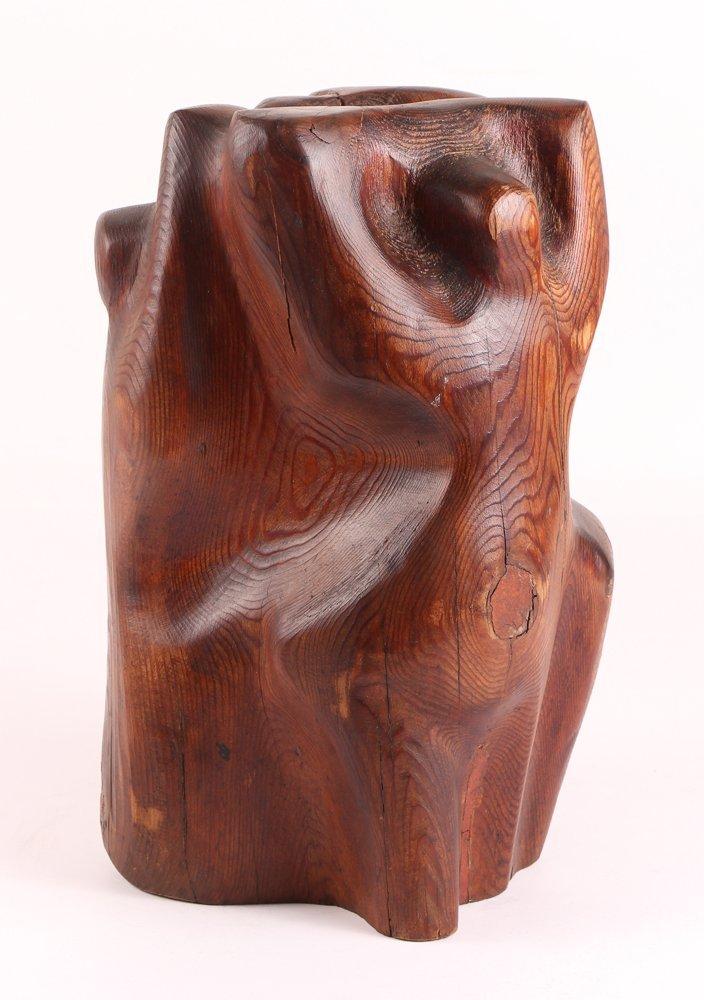 Louise Scott Wood Sculpture - 2