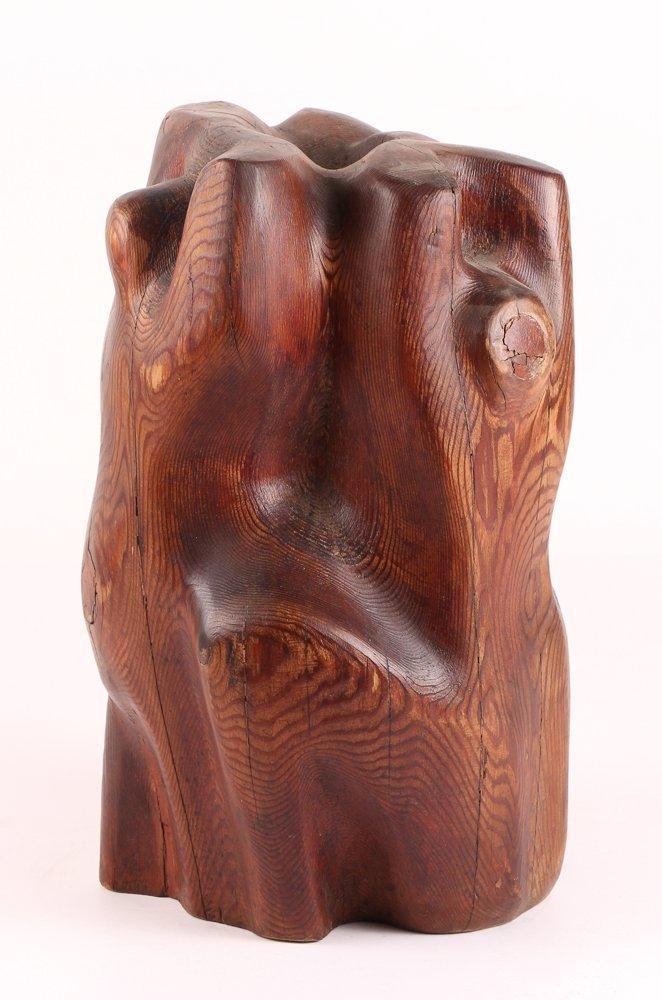 Louise Scott Wood Sculpture - 4