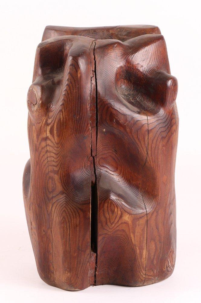 Louise Scott Wood Sculpture - 5