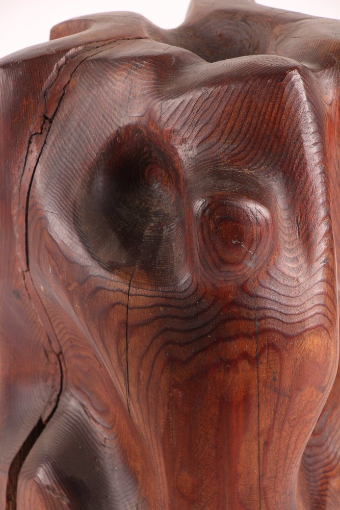 Louise Scott Wood Sculpture - 6