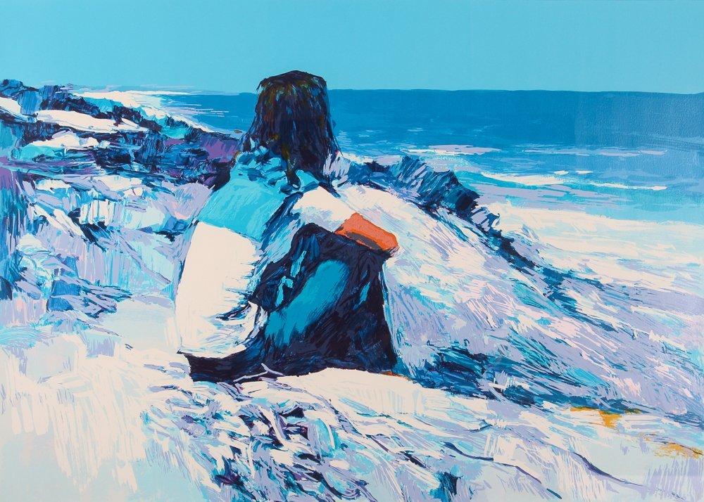 """Nicola Simbari """"White Beach"""" Signed & Numbered"""