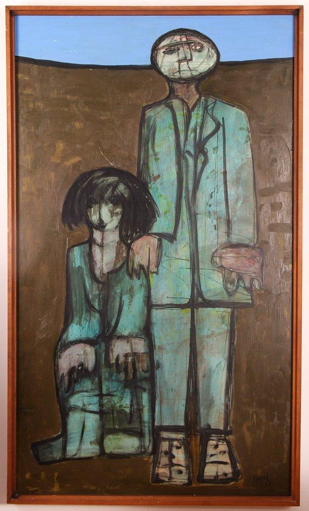 "Kamal Youssef 1963 painting ""Reunion"""