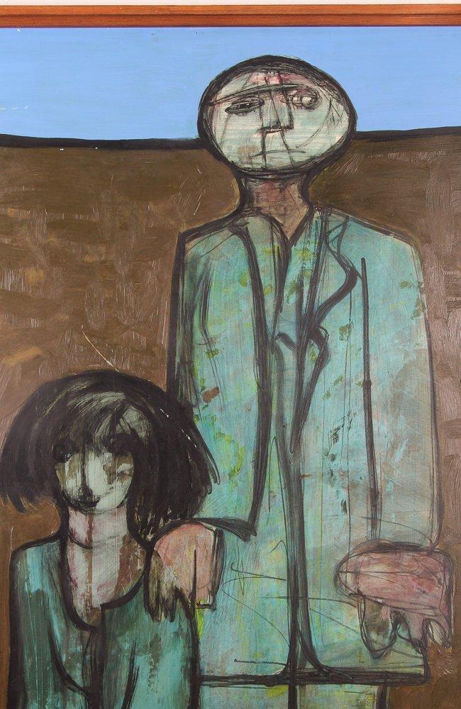 "Kamal Youssef 1963 painting ""Reunion"" - 3"