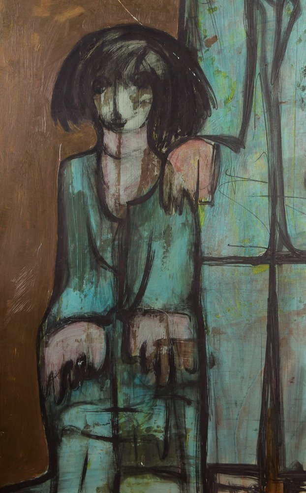 "Kamal Youssef 1963 painting ""Reunion"" - 4"