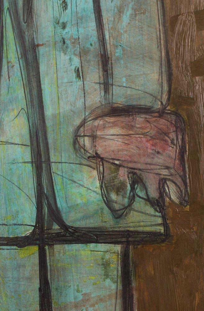 "Kamal Youssef 1963 painting ""Reunion"" - 5"